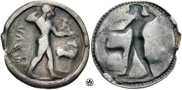 Ancient Greek coin features Apollo (with anteverted pelvis!) and stag