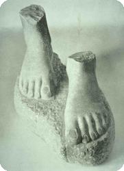 ゴーカレー法 - ギリシャ語 - 彫像フィート-腎臓豆フィートのアーチ